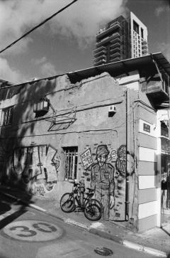 Street Art Tel Aviv, Nikon F100, Kodak Tri-X 400 @ 800, Rodinal